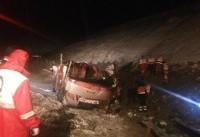 ۳ کشته و ۲۰ مصدوم در واژگونی اتوبوس در اتوبان تبریز