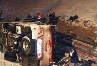 واژگونی مرگبار اتوبوس خوی_تهران (+عکس)