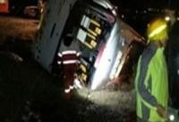 ۳ کشته و ۲۰ مصدوم به دلیل واژگونی اتوبوس در محور تبریز ـ زنجان