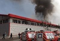 مصدومیت دوکارگر در آتشسوزی شیرآلات صنعتی البرز