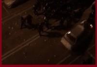 دومین حمله دراویش گنابادی به ماموران با خودرو +فیلم | ۳ مامور دیگر زخمی شدند