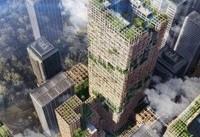برج ۳۵۰ متری چوبی در ژاپن طراحی شد