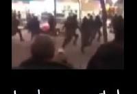 فیلم: درگیری دراویش گنابادی | لحظه حمله اتوبوس دراویش گنابادی به ماموران ناجا +فیلم