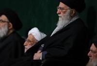 برگزاری مراسم شام شهادت حضرت رهرا در حسینیه امام خمینی با حضور مقام معظم رهبری
