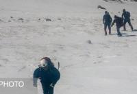 شب سرد امدادگران در کوههای دنا + ویدئو