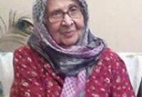 مادر زهرا رهنورد درگذشت؛ حضور بانوی محصور در کنار پیکر مادر