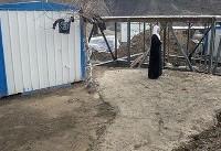 اسکان موقت زلزلهزدگان کرمانشاه همزمان با بازسازی واحدها (عکس)
