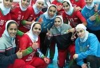 هندبال زنان ایران قهرمان غرب آسیا شد