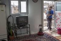 اسکان موقت زلزله زدگان «ثلاث باباجانی » همزمان با بازسازی واحدهای مسکونی (عکس)
