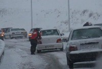بارش برف در محورهای فارس و البرز/محورهای ۱۰ استان بارانیست/کولاک در ...