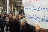 تجمع اعتراضی کارگران در مقابل ساختمان شورای نگهبان برگزار شد