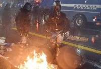 درگیری پلیس ایتالیا با مخالفان در آستانۀ انتخابات پارلمانی + تصاویر
