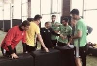 تمرین با نشاط تیم ملی فوتبال پس از روز نخست هفته ۲۴ لیگ برتر
