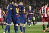 بارسلونا تیم خیرونا را به توپ بست/ درخشش مربع جدید آبی اناریها