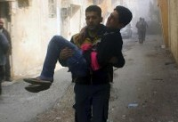 Damascus suburb strikes kill scores, UN votes for cease-fire