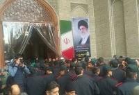 مراسم ترحیم شهدای حوادث اخیر خیابان پاسداران برگزار شد