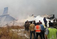 یک هواپیمای مسافربری با ۷۱ سرنشین در فرودگاه کاتماندو سقوط کرد