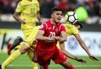 پیروزی پرسپولیس برابر الوصل در پایان نیمه اول