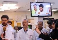 (تصاویر) مصدومان در بیمارستان سوانح سوختگی