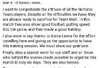 پیام فیسبوکی کیروش درباره دیدار دوستانه با سیرالئون