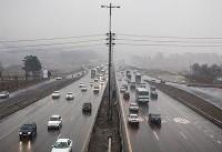 ترافیک نیمه سنگین در محور کرج-چالوس/ وضعیت جوی جاده ها