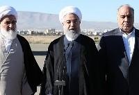روحانی وارد کرمانشاه شد