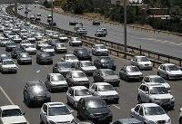 ترافیک نیمه سنگین در باند شمالی آزادراه قزوین-کرج و قزوین-زنجان