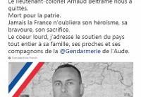 حمله تروریستی فرانسه؛ فرمانده «قهرمان» پلیس بر اثر جراحات وارده درگذشت