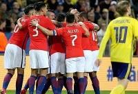 پیروزی شیرین تیم ملی شیلی در زمین سوئد