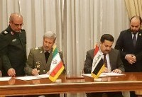 وزیران دفاع و صنایع و معادن ایران و عراق یادداشت تفاهم همکاری صنعتی امضا کردند