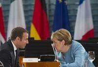 تاکید صدراعظم آلمان بر حفظ برجام در دیدار با رییسجمهور فرانسه