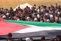 «راهپیمایی بازگشت» در غزه برای چهارمین هفته متوالی با عنوان «جمعه شهدا و اسرا»+عکس