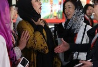 دست ندادن مریلا زارعی با مرد چینی سوژه شد (+عکس)