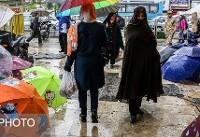کاهش نسبی دما و بارش باران در نقاط مختلف کشور