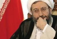 دفاع لاریجانی از برخورد نیروی انتظامی با مخالف حجاب اجباری