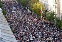 Tens of thousands of Hungarians rally in new anti-Orban protest