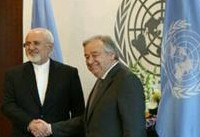 دبیرکل سازمان ملل در دیدار با ظریف بر پایبندی کلیه طرفها بر تعهدات برجامی تاکید کرد
