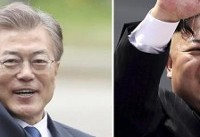 دیدار تاریخی سران کرهشمالی و جنوبی در منطقه غیرنظامی دو کشور