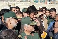 فرمانده کل سپاه به میان زلزله زدگان سرپل ذهاب رفت