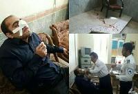 کتک زدن یک معلم توسط والدین دانش آموز در خورستان (+عکس)/ ضارب متواری شد