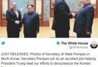 انتشار تصویر دیدار رهبر کره شمالی و پامپئو برای اولین بار