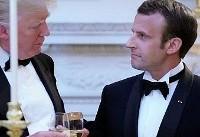 دونالد ترامپ: نظر رئیس جمهور فرانسه را نسبت به ایران تغییر دادم
