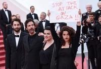 دفاع بازیگر زن از مردم غزه روی فرش قرمز کن