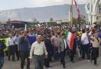 اعتراضات در کازرون