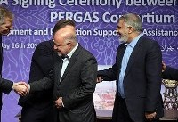 امضای توافقنامه توسعه میدان نفتی کرنج (عکس)