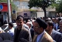 حضور وزیر اطلاعات در مراسم تشییع پیکر مرحوم طباطبایی به نمایندگی از رییس جمهور