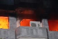 آتش سوزی در مجتمع مسکونی /نجات ۴۰ نفر از میانه شعله ها