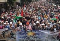 تصاویر؛ تظاهرات گسترده ضد صهیونیستی در مغرب
