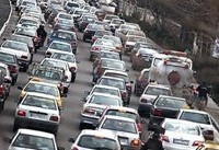 ترافیک نیمه سنگین در باند جنوبی آزاد راه تهران -کرج