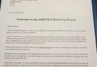 دعوت اینفانتینو از رئیس جمهور برای حضور در افتتاحیه جام جهانی فوتبال